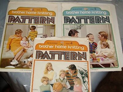 Knitting Machine Magazine/ Book: Brother Home Knitting Patterns X 3