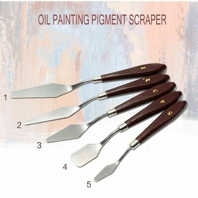 Stainless Artist Painting Palette Knife Spatula Oil Painting Paint Art Craft 5Pc