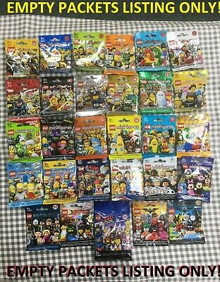 Lego minifigures empty packets bags only choose your series
