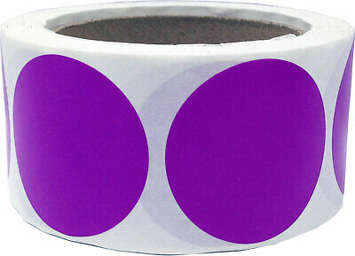 Circle Dot Stickers, 3 Inches Round, 500 Labels on a Roll, 39 Color Choices