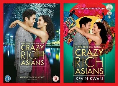 Crazy Rich Asians Double Pack Includes DVD and Paperback Brand NEW