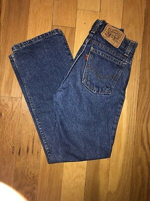 VINTAGE Levi's Orange Tab Zipper 24 x 24 Boys Size 10