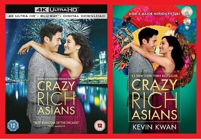 Crazy Rich Asians Double Pack Includes 4K Ultra HD Blu-ray and Paperback NEW