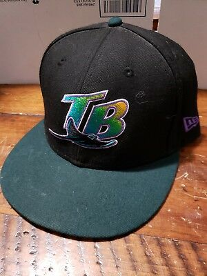 7942ed00af0 TAMPA BAY DEVIL Rays New Era 59FIFTY MLB Cooperstown Patch Cap Hat ...
