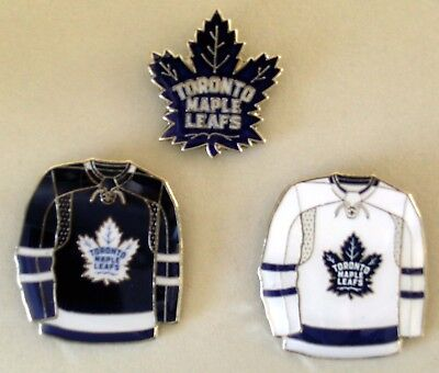Toronto Maple Leafs - Set Of 3 Top Quality Nhl Licensed Lapel Pins - All New!