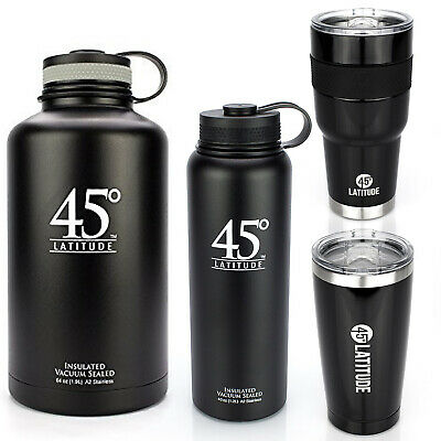 45 Degree Latitude Insulated Stainless Steel Tumbler Bottle BPA-free Hot or Cold