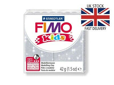 🇬🇧FIMO Kids Glitter 42g Polymer Clay Block CE-Certified 🇬🇧FAST DELIVERY