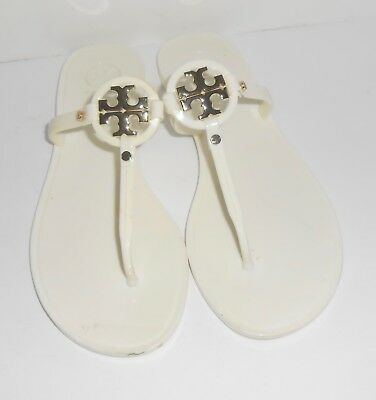 21abdb8d213a6c TORY BURCH MELODY Pearl Jelly Miller Rubber Flip Flops Size 8 ...