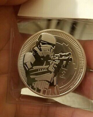2018 Star Wars Stormtrooper 1 oz Silver Niue Coin!