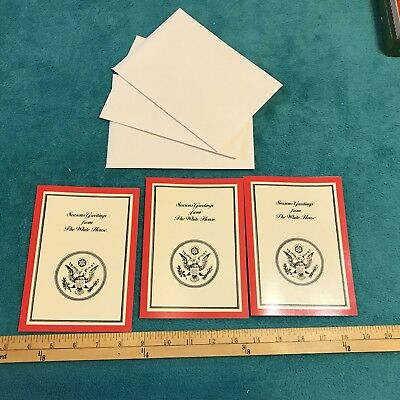 (3) Holiday Cards, Seasons Greetings From The White House, Joke Card, W/ Envelop