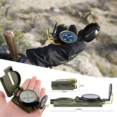 8A2A Outdoor Military Army Camping Survival Pocket Portable Metal Shell Compass