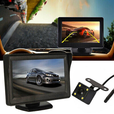 3682 Black Car Monitor Rearview Monitor Display Sun Visor Automobile Reverse