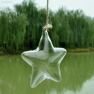 5227 Clear Glass Vase Terrarium Wall Hanging Star Shaped Decoration Ornament