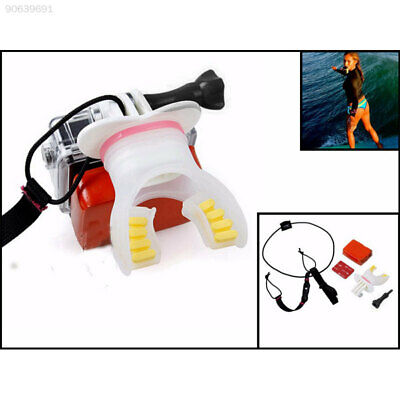 9F38 Surfing Mouth Bite Mount + Floaty + Neck Lanyard Soft For GoPro Camera