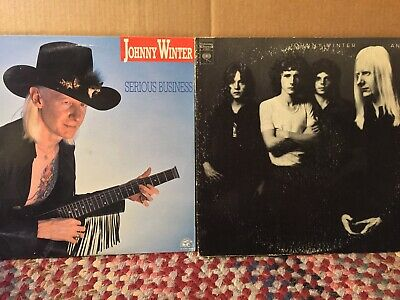 Johnny Winter VG+ 2LP LOT Serious Business And