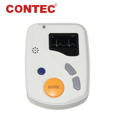 CE,TLC6000 Dynamic 12-Channel lead ECG Holter Monitor 48hr Recorder, PC Software