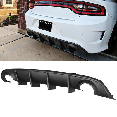 Rear Lip Bumper Valance Diffuser PP for 15-19 Dodge Charger SRT OE Style