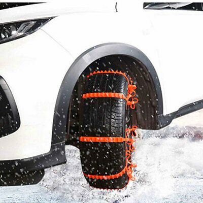 E1FB 1 Pc Snow Tire Belt Anti-Skid Chains Snow Chain Roadway Safety Emergency