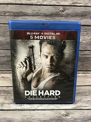 Die Hard 5 Movies Collection 1 2 3 4 5 (Blu-Ray Set *No Digital) Mint Discs VG