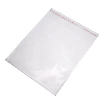 100PCS Clear Resealable Self Adhesive Sealing Plastic Bags 16x20cm S6O5
