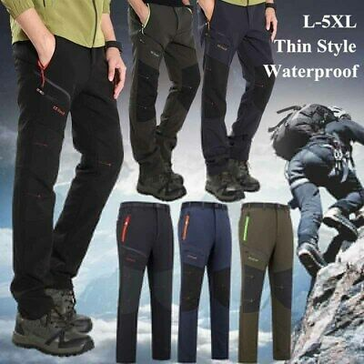 1698a7d9bbc22 Men s Outdoor Sport Trousers Softshell Hiking Fleece Climbing Pants  Waterproof