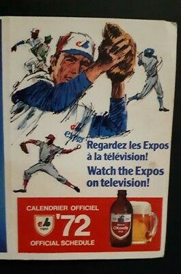 1972 Montreal Expos MLB baseball schedule Jarry Park