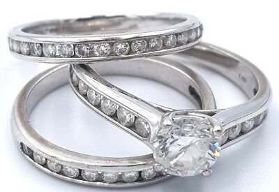18K White Gold Genuine 1.50Ct Diamonds Ladies Engagement Ring 750 Rrp$7,597.00