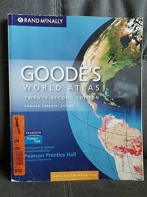 Goode's World Atlas by Rand McNally Staff (2009, Paperback) BENEFITS CHARITY