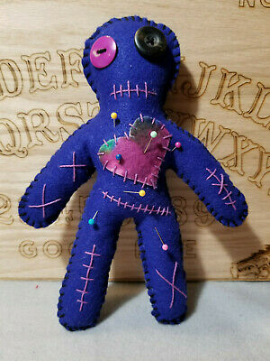 Handmade VooDoo Doll with pins 9 inches tall