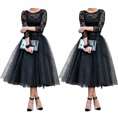 Women Formal Wedding Bridesmaid Evening Party Ball Prom Gown Midi Cocktail Dress