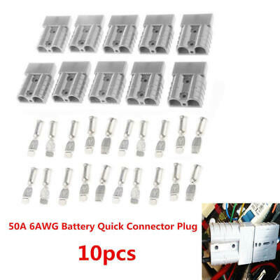 Battery Quick Connect 10x Set -50A Wire Harness Plug Disconnect Winch T TRW