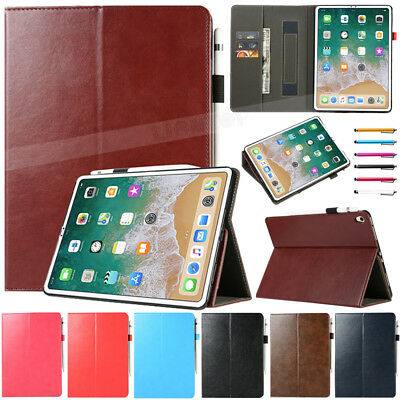 """For Apple iPad Pro 11"""" inch 2018 Tablet Folio Luxury Handle Leather Cover Case"""