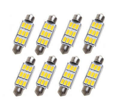 8 stk. Warmweiß 42mm SMD 9 LED Soffitte Sofitte CANBUS Innra Lampe Deutsche Post