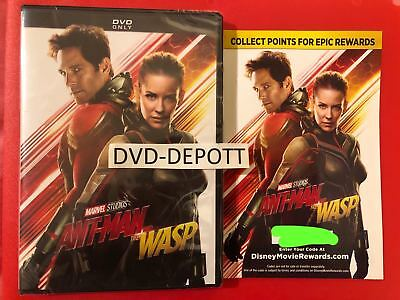 Ant-Man and the Wasp DVD *AUTHENTIC WITH DISNEY REWARDS READ* New FAST Free Ship