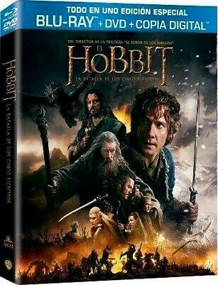 El Hobbit : La Batalla De Los Cinco Ejercitos (Blu-Ray + Dvd + Copia Digital) (T