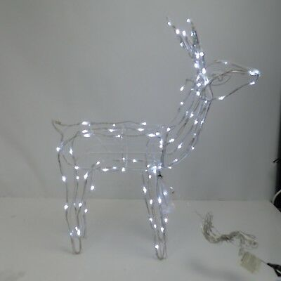 WeRChristmas Pre-Lit 3D Twinkling Reindeer Christmas Decoration with 90-LED, 78