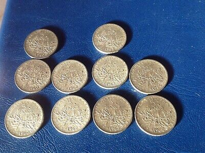 lot pieces 5 francs argent semeuse