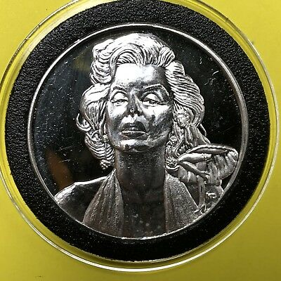 Marilyn Monroe Playboy Pose 1 Troy Oz .999 Fine Silver Rare Round Coin Medal 999