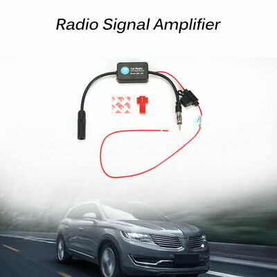 Car Motor Automobile Antenna Radio Signal Booster ANT-208 Amplifier Amp Black