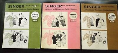 "3 ""singer"" Knitting Machines Classic Pattern Magazines  - V.g.cond  I Will Post"