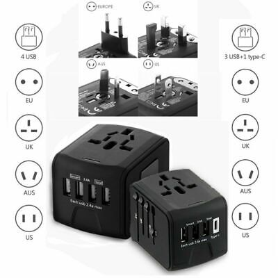 International Universal All In One Travel AC Power Charger Adapter US UK EU AU