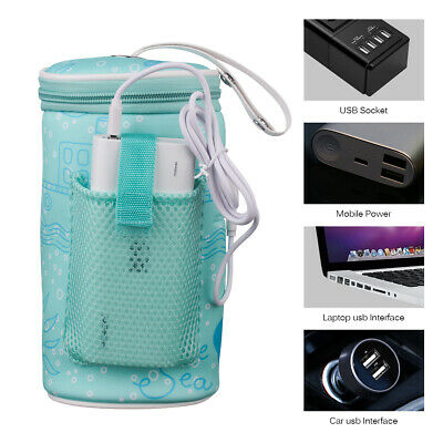 Travel USB Heating Baby Milk Bottle Warmer Bag Travel Car Milk Heater Insulation