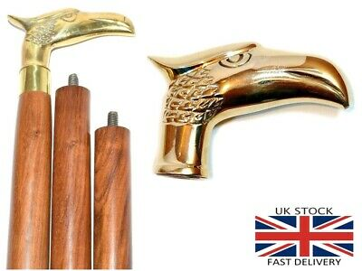 Eagle Head Handle Solid Brass Vintage Style Victorian Wooden Walking Stick Cane