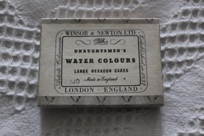 Vintage Winsor & Newton Water Colours - 1 Large Hexagon Cake - Scarlet Lake.