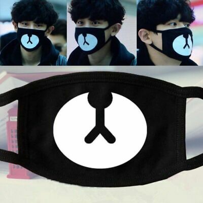 C Kpop Men Women Cycling Anti-Dust Bear Cotton Mouth Face Mask Respirator Unisex