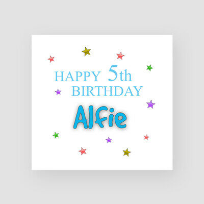 Personalised Swimming Birthday Card Boy Son Grandson Brother Nephew 5th 6th 7th
