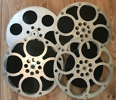 "Rare Vintage 16mm Cine Film Movie ""The Yellow Rolls Royce"" 1964 Complete 4 Reels"