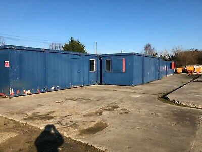 Portable Office Cabin 32ft x 10ft Site Office, Welfare Unit selection available