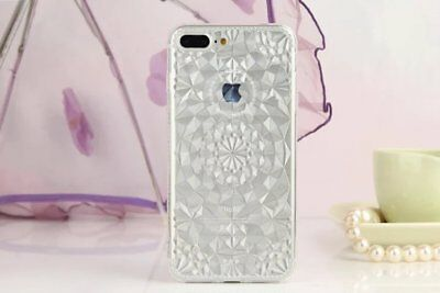 """For Apple iPhone 7 Plus 5.5"""" TPU Crystal Gel Soft Glitter Shockproof Cover USA"""