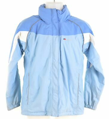 BERGHAUS Girls Windbreaker Jacket 12-13 Years Blue Nylon  CN02